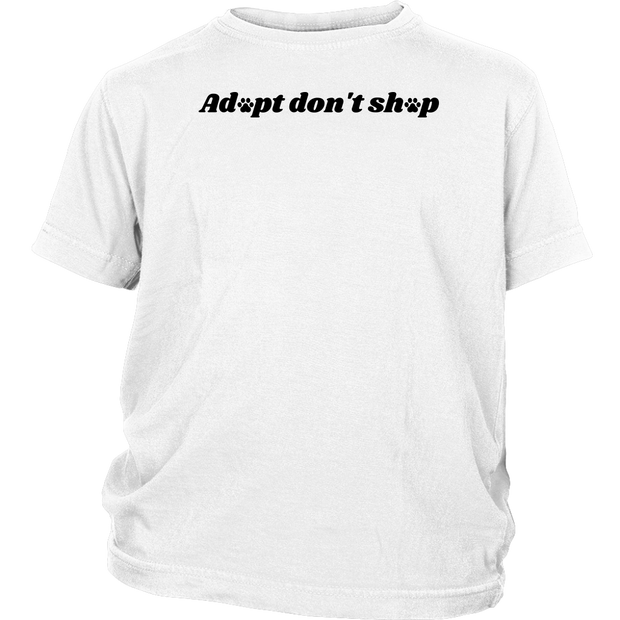 Adopt Don't Shop Youth Tee District Youth Shirt Woofingtons