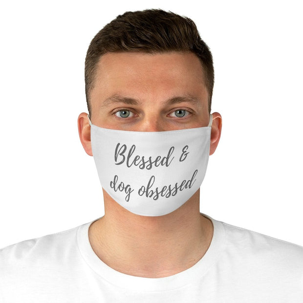 Blessed & Dog Obsessed Fabric Face Mask-Apparel-One size-Woofingtons