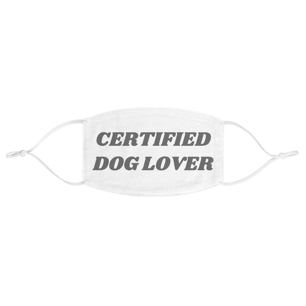 Certified Dog Lover Fabric Face Mask-Apparel-One size-Woofingtons