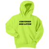 Certified Dog Lover Youth Hoodie Youth Hoodie Woofingtons