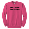 Certified Dog Lover Youth Sweatshirt Youth Crewneck Sweatshirt Woofingtons