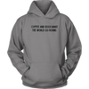 Coffee And Dogs Make The World Go Round Unisex Hoodie Unisex Hoodie Woofingtons