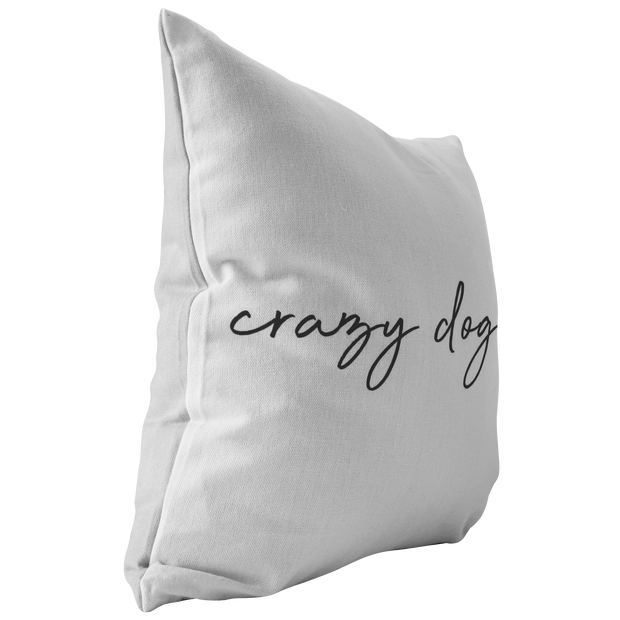 Crazy Dog Lady Throw Pillow-Stuffed & Sewn-Woofingtons