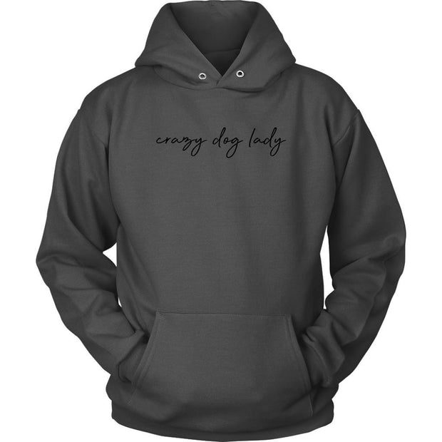 Crazy Dog Lady Unisex Hoodie-Charcoal-Woofingtons