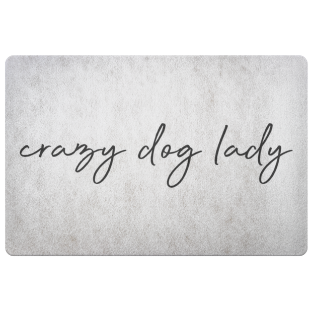 Crazy Dog Lady Welcome Mat-dog-lover-gift