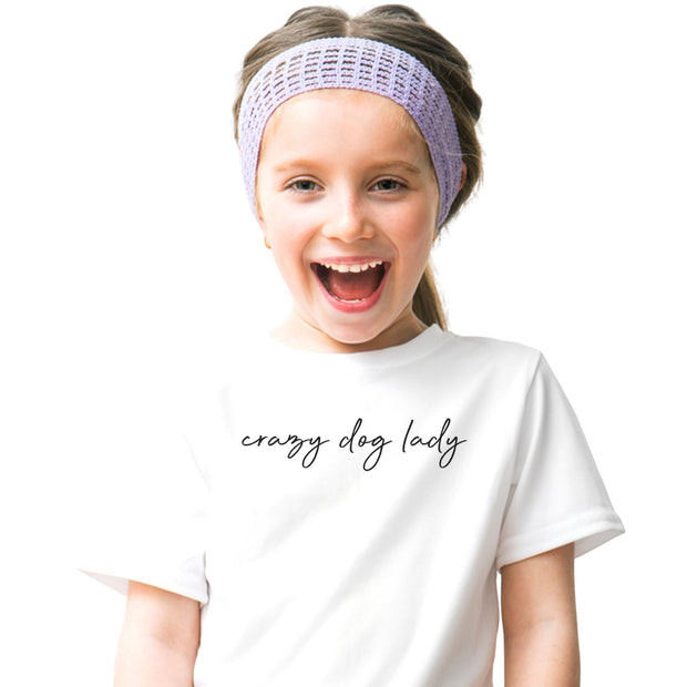 Crazy Dog Lady Youth Tee White Woofingtons