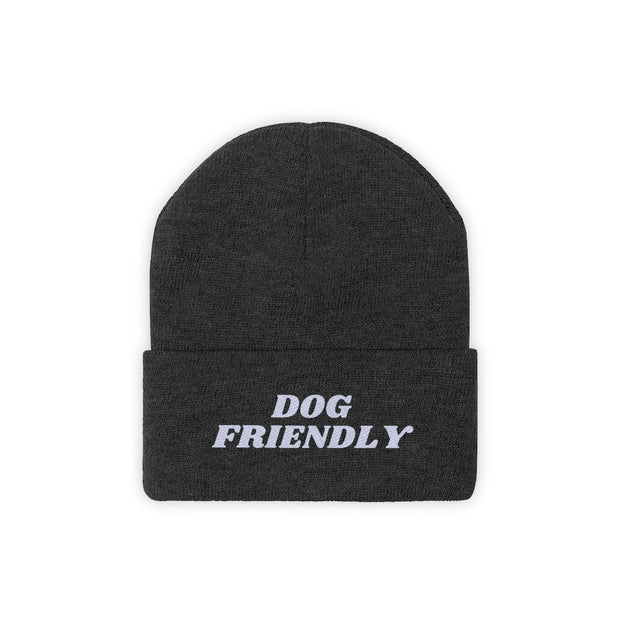 Dog Friendly Knit Beanie-Apparel-Black-Woofingtons