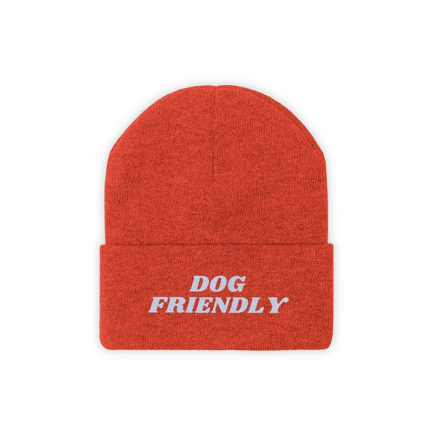 Dog Friendly Knit Beanie-Apparel-Deep Orange-Woofingtons