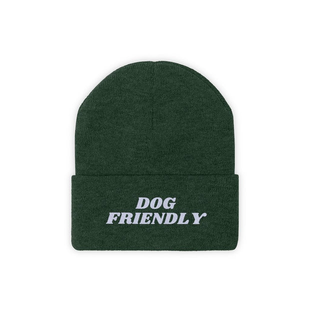 Dog Friendly Knit Beanie-Apparel-Forest Green-Woofingtons