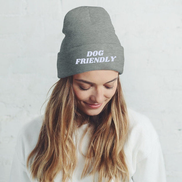 Dog Friendly Knit Beanie-Apparel-Graphite Heather-Woofingtons