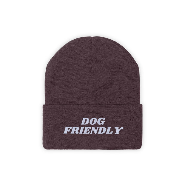 Dog Friendly Knit Beanie-Apparel-Maroon-Woofingtons