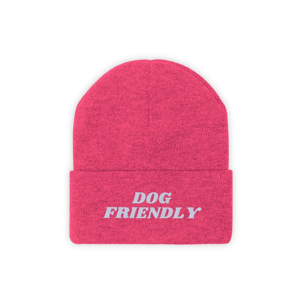 Dog Friendly Knit Beanie-Apparel-Neon Pink-Woofingtons