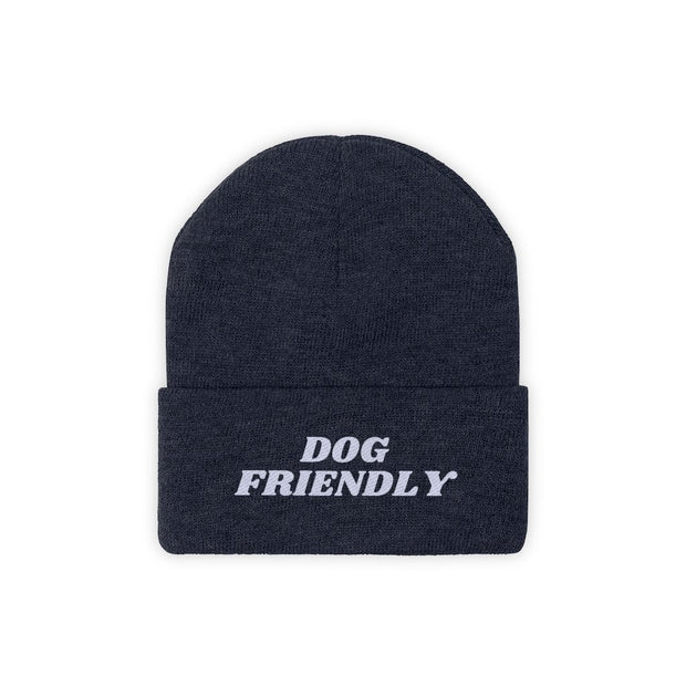 Dog Friendly Knit Beanie-Apparel-True Navy-Woofingtons