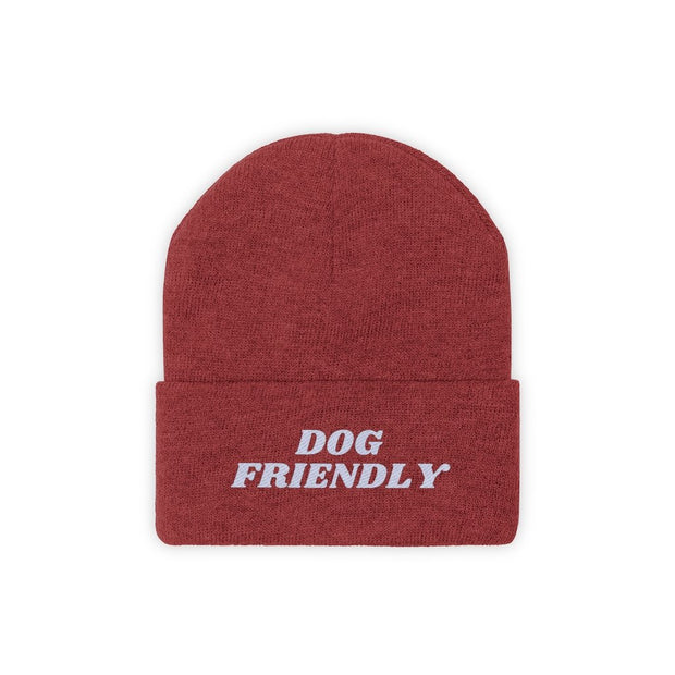 Dog Friendly Knit Beanie-Apparel-True Red-Woofingtons
