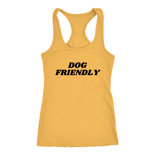 Dog Friendly Tank Top Next Level Racerback Tank Woofingtons