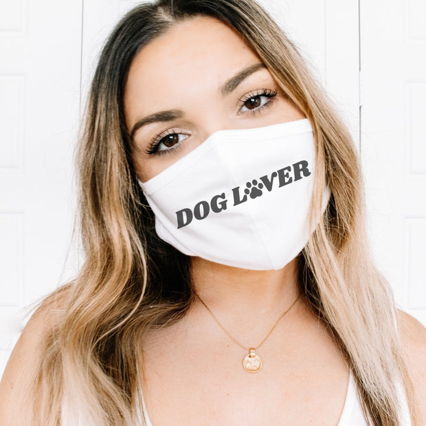 Dog Lover Paw Print Fabric Face Mask-Apparel-One size-Woofingtons
