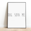 Dog. Sofa. Me. Art Poster-dog-lover-gift