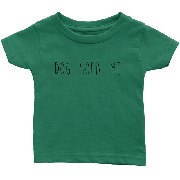 Dog. Sofa. Me Baby Tee-Grass Green-Woofingtons