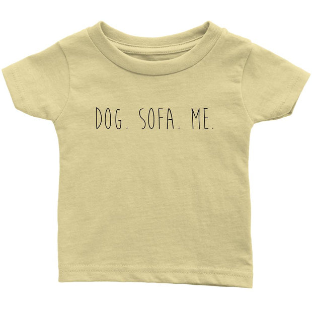 Dog. Sofa. Me Baby Tee-Lemon-Woofingtons