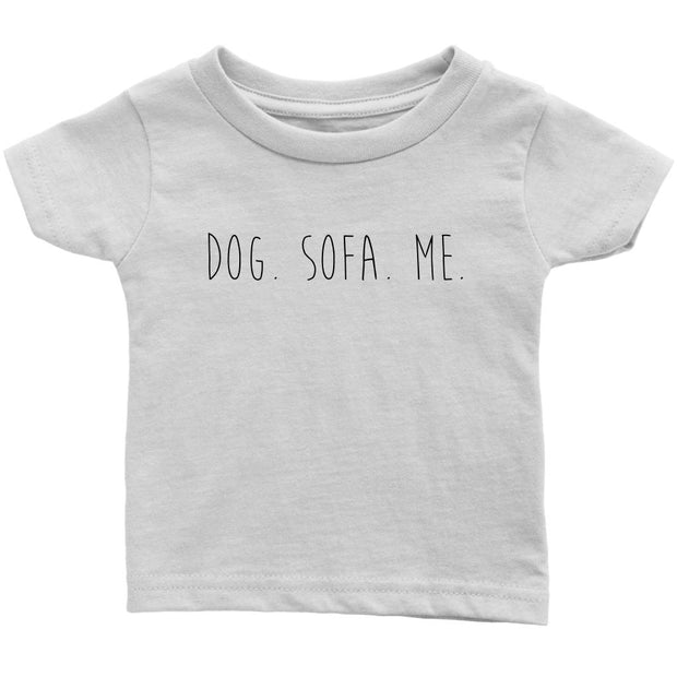 Dog. Sofa. Me Baby Tee-White-Woofingtons