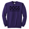DOGS Because People Suck Youth Sweatshirt Youth Crewneck Sweatshirt Woofingtons