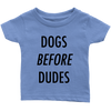 Dogs Before Dudes Baby Tees-Baby Blue-Woofingtons