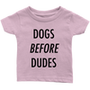 Dogs Before Dudes Baby Tees-Light Pink-Woofingtons