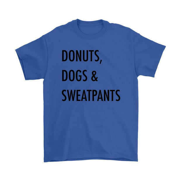 Dogs, Donuts & Sweatpants Mens Tee-Royal Blue-Woofingtons