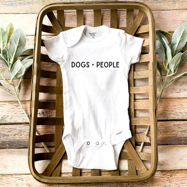 Dogs > People Baby Onesie Baby Bodysuit Woofingtons