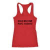 Dogs Welcome People Tolerated Tank Top Next Level Racerback Tank Woofingtons
