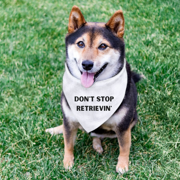 Don't Stop Retrievin' Dog Bandana Pet Bandana Woofingtons