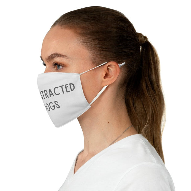 Easily Distracted By Dogs Fabric Face Mask-Apparel-One size-Woofingtons