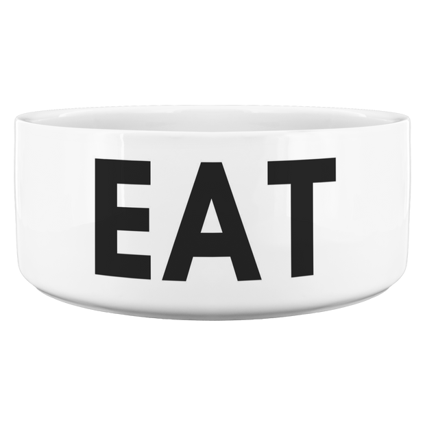 Eat Ceramic Dog Bowl Dog Bowl Woofingtons