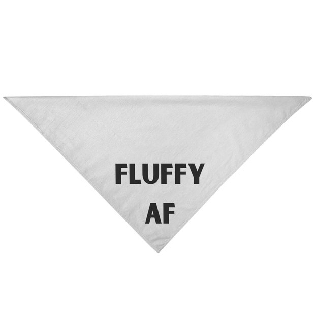 Fluffy AF Dog Bandana Pet Bandana Woofingtons