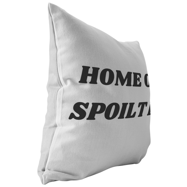 Home Of A Spoilt Dog Throw Pillow Stuffed & Sewn Woofingtons