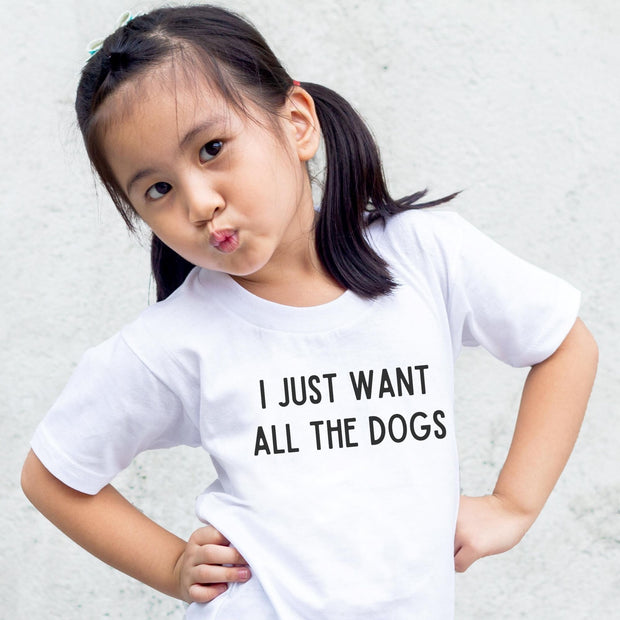 I Just Want All The Dogs Toddler Tee Toddler T-Shirt Woofingtons