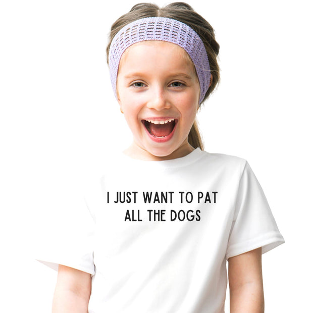 I Just Want To Pet All The Dogs Youth Tee District Youth Shirt Woofingtons