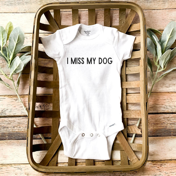 I Miss My Dog Baby Onesie Baby Bodysuit Woofingtons