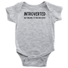 Introverted But Willing To Discuss Dogs Baby Onesie Baby Bodysuit Woofingtons
