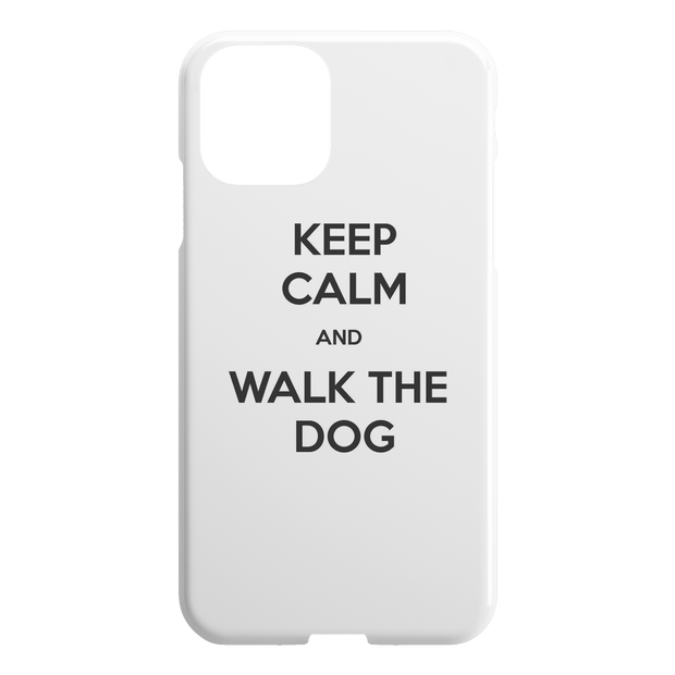 Keep Calm And Walk The Dog iPhone Case-iPhone 11-Woofingtons