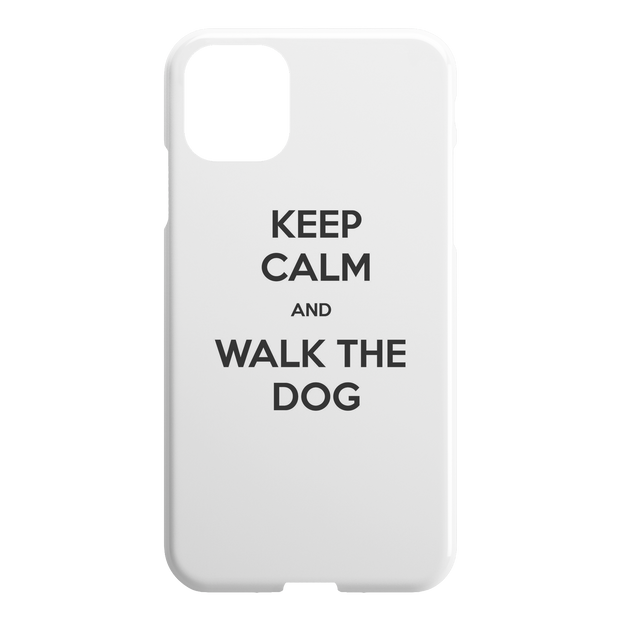 Keep Calm And Walk The Dog iPhone Case-iPhone 11 Pro-Woofingtons