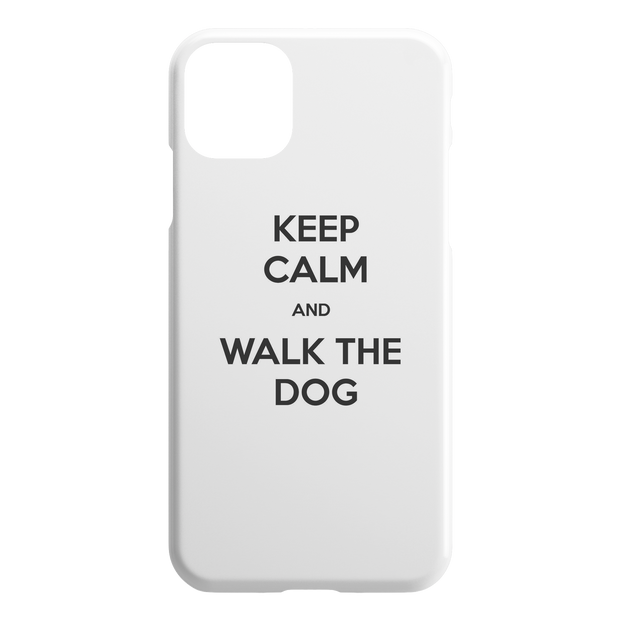 Keep Calm And Walk The Dog iPhone Case-iPhone 11 Pro Max-Woofingtons