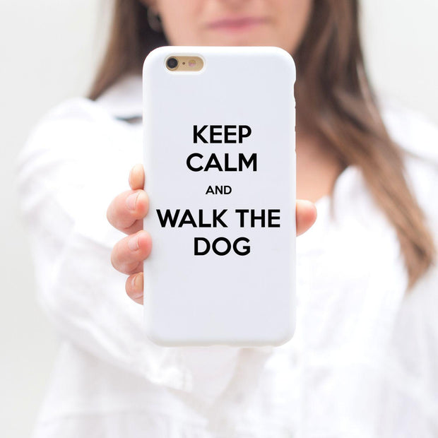 Keep Calm And Walk The Dog iPhone Case iPhone 6 6S Woofingtons