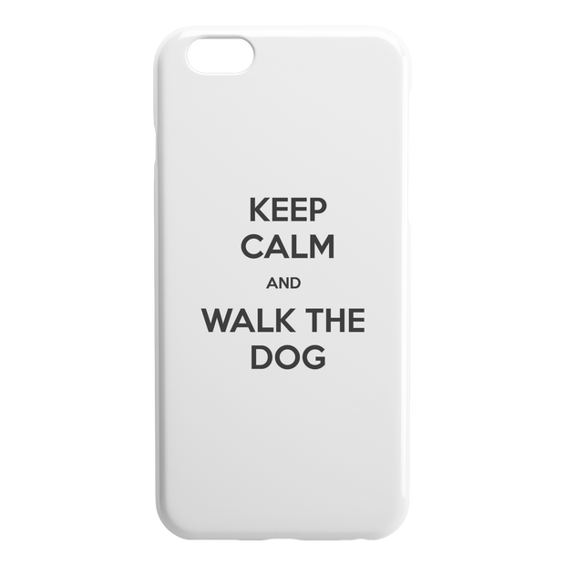 Keep Calm And Walk The Dog iPhone Case-iPhone 6 6S PLUS-Woofingtons