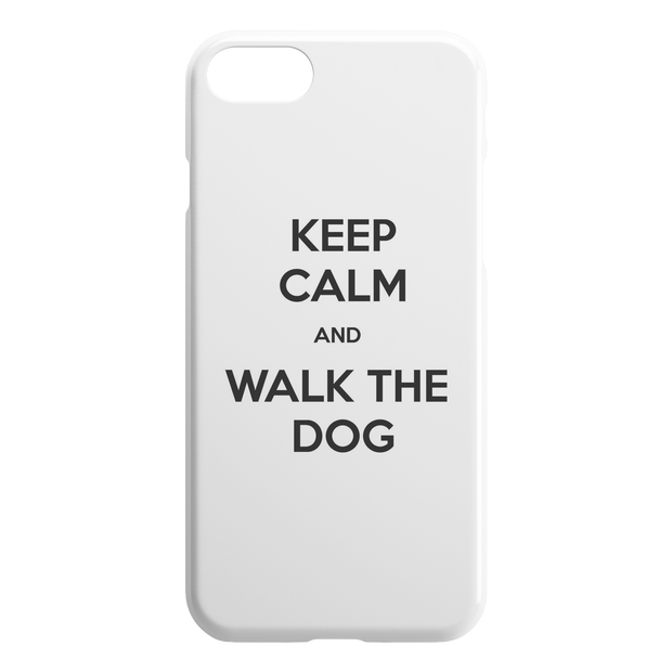 Keep Calm And Walk The Dog iPhone Case-iPhone 7 8-Woofingtons
