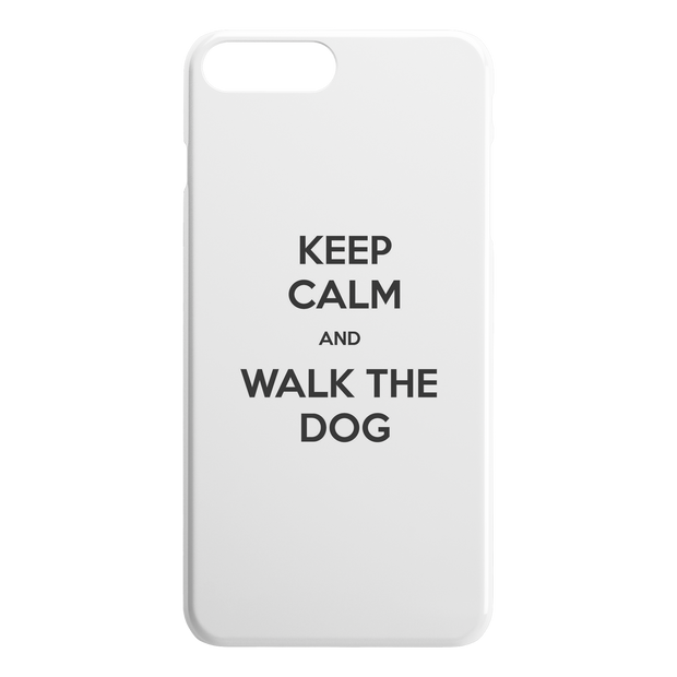 Keep Calm And Walk The Dog iPhone Case-iPhone 7 8 PLUS-Woofingtons