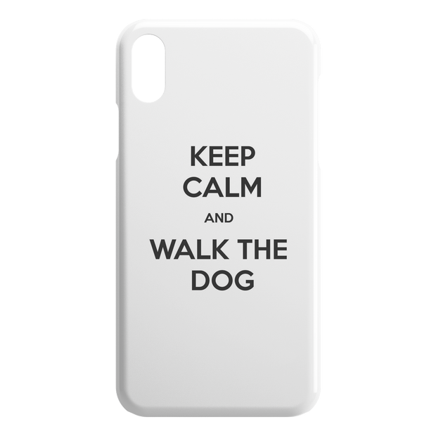 Keep Calm And Walk The Dog iPhone Case-iPhone X XS-Woofingtons