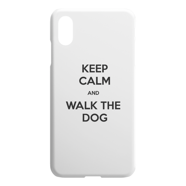 Keep Calm And Walk The Dog iPhone Case-iPhone X XS Max-Woofingtons