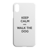 Keep Calm And Walk The Dog iPhone Case-iPhone XR-Woofingtons
