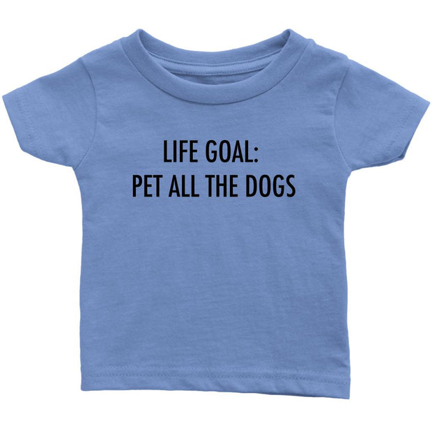 Life Goal: Pet All The Dogs Baby Tee-Baby Blue-Woofingtons